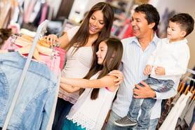 Family shopping retail