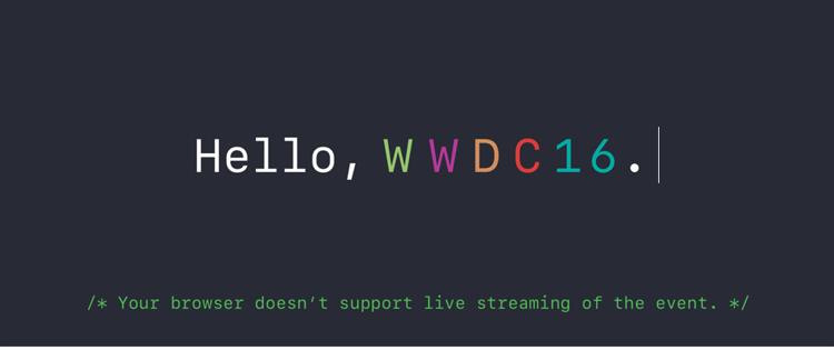 Apple's WWDC 2016